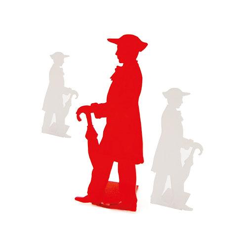 Homme parapluie en plexi, à poser - 3 tailles