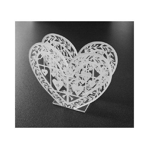 Porte serviettes Forme coeur