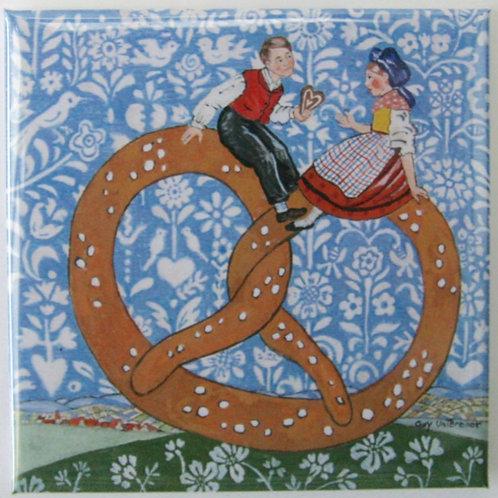 Magnet carré Couple Bretzel