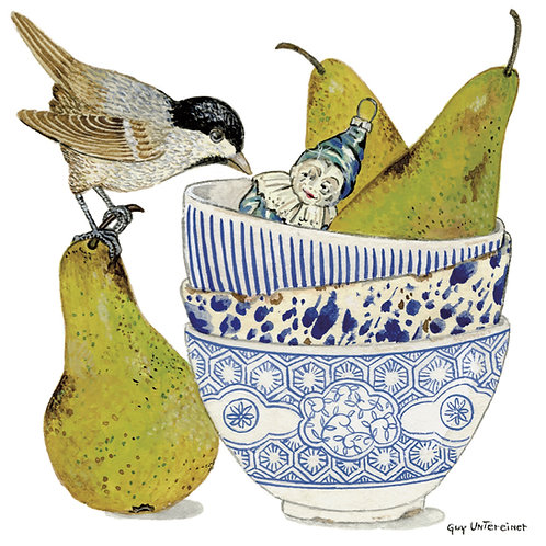 Carte Oiseau aux poires