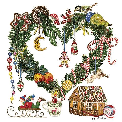 Carte Coeur de Noël
