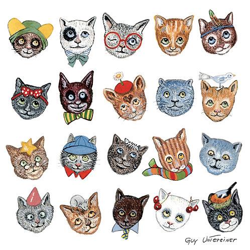 Carte Drôles de chats