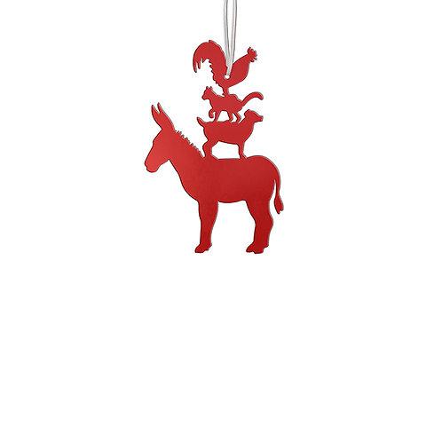 Silhouette Métal Animaux de Brême à suspendre - 2 tailles et 2 coloris