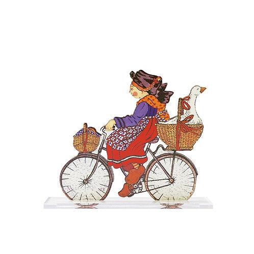 Silhouette Alsacienne au vélo à poser