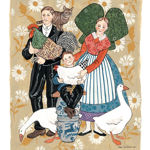Carte Famille alsacienne