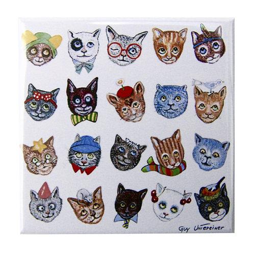 Magnet Drôles de chats