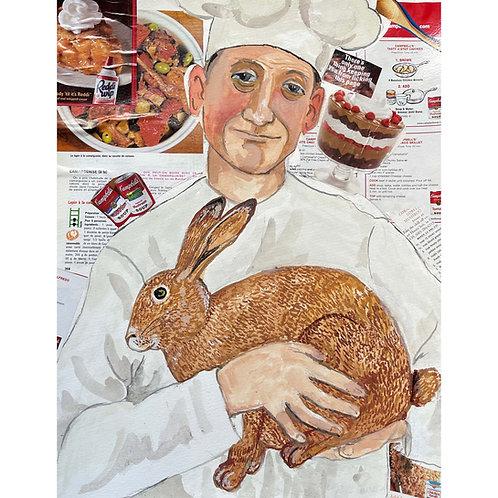 Le cuisinier et son lapin