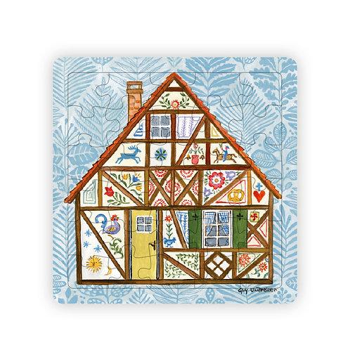 Puzzle Maison alsacienne végétale