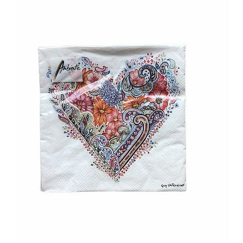 Serviettes en papier Coeur de Printemps