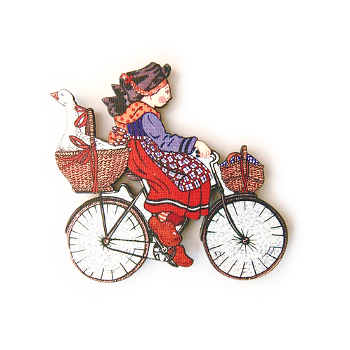 Magnet Alsacienne au vélo