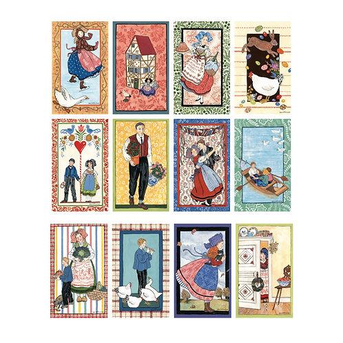 Lot de 12 cartes
