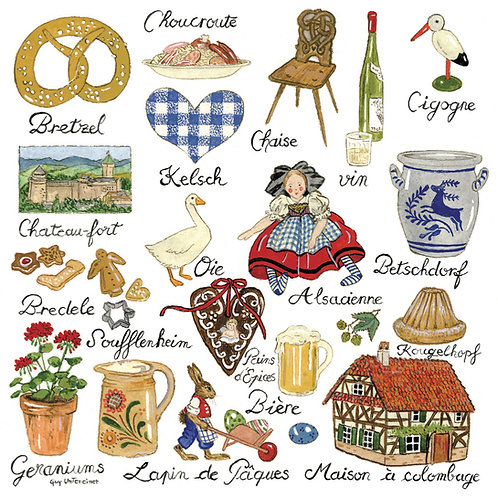 Carte Symboles d'Alsace