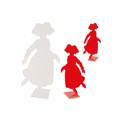 Alsacienne patineuse en plexi, à poser - 2 coloris et 3 tailles
