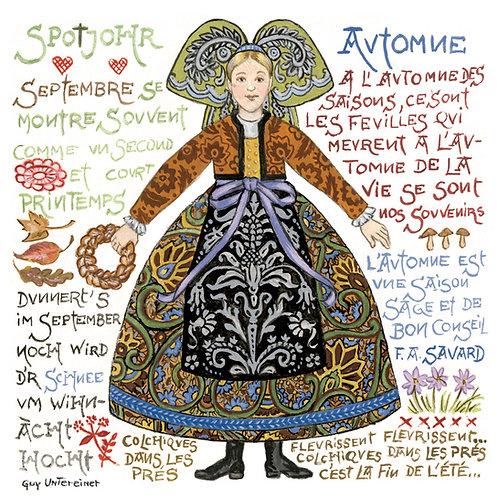 Carte Alsacienne Automne