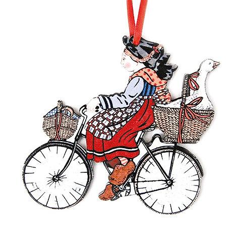 Alsacienne au vélo à suspendre
