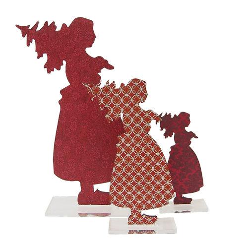 Silhouette Alsacienne sapin à poser - 4 tailles