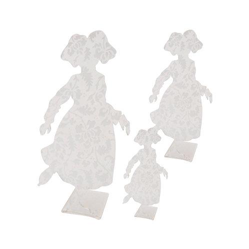 Alsacienne patineuse en plexi gravé, à poser - 2 tailles
