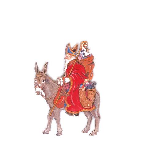 Magnet Saint Nicolas sur son âne