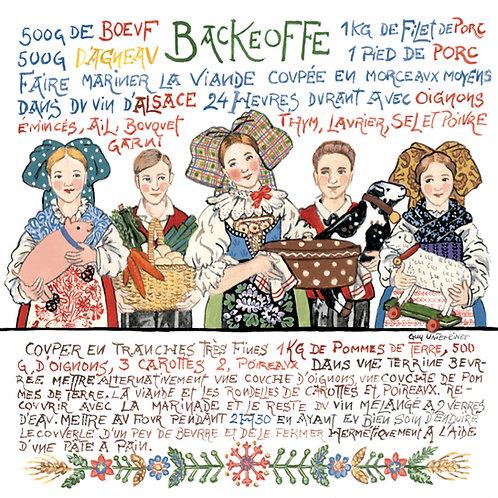 Carte Backeoffe ou Baeckoeffe