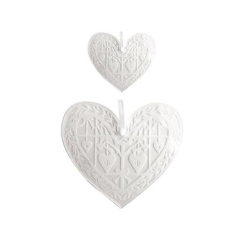 Coeur en plexi gravé, à suspendre - 2 tailles