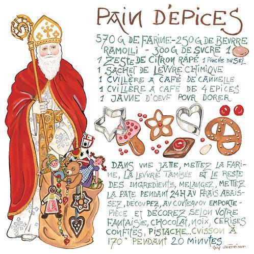 Carte Pain d'épice