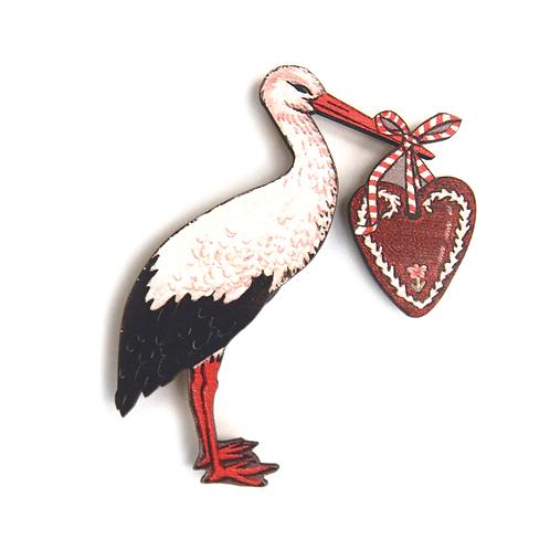 Cigogne au coeur