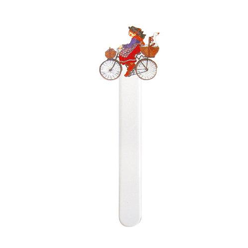 Marque-pages Alsacienne au vélo
