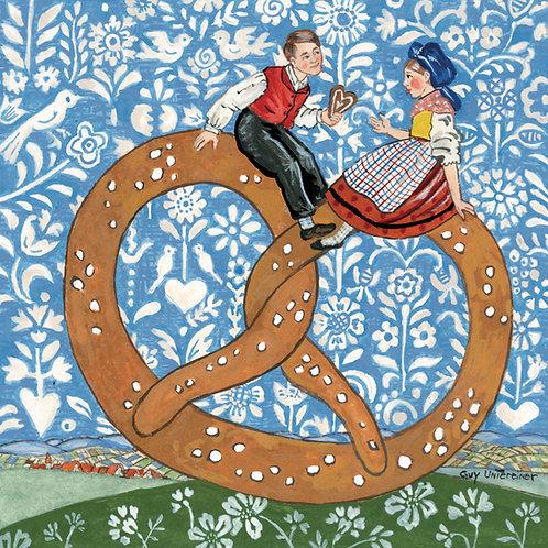 Carte Couple sur bretzel