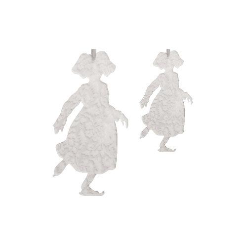 Alsacienne patineuse en plexi gravé, à suspendre - 2 tailles