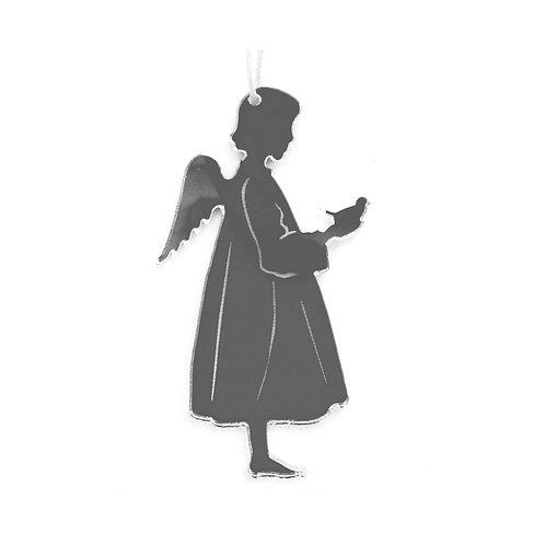 Ange oiseau avec effet miroir, à suspendre