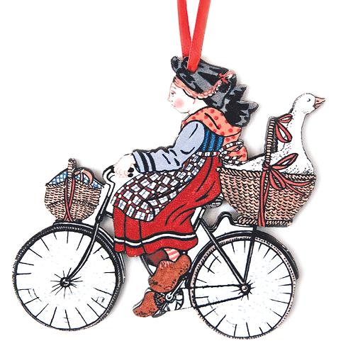 Silhouette à suspendre Alsacienne à vélo