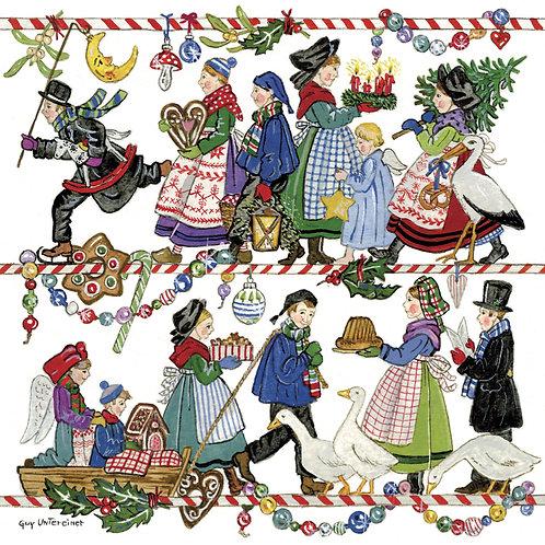 Carte Farandole de Noël