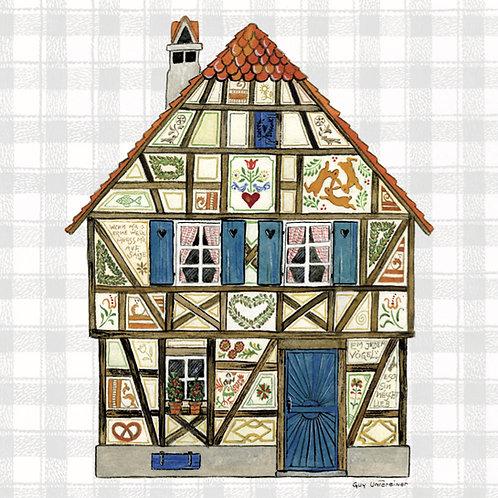 Carte Maison colombages