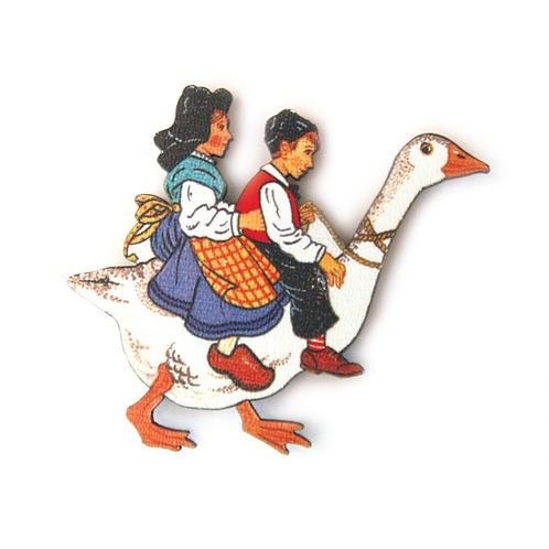 Enfants à l'oie