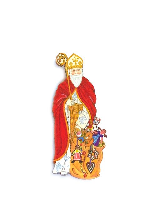 Magnet Saint Nicolas à la hotte