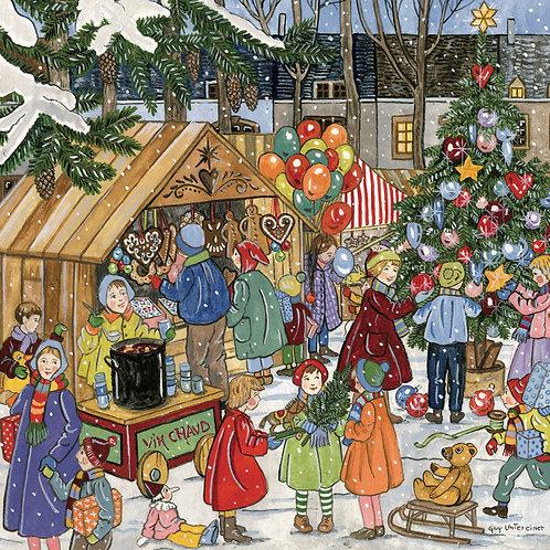 Carte Marché de Noël