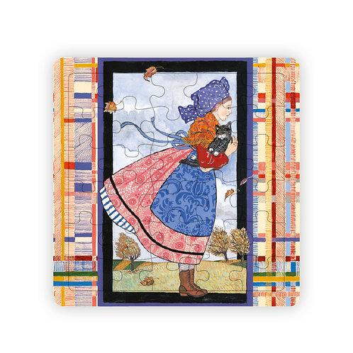 Puzzle Jeune fille au vent