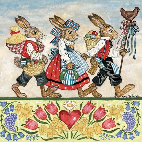 Carte Trois lapins