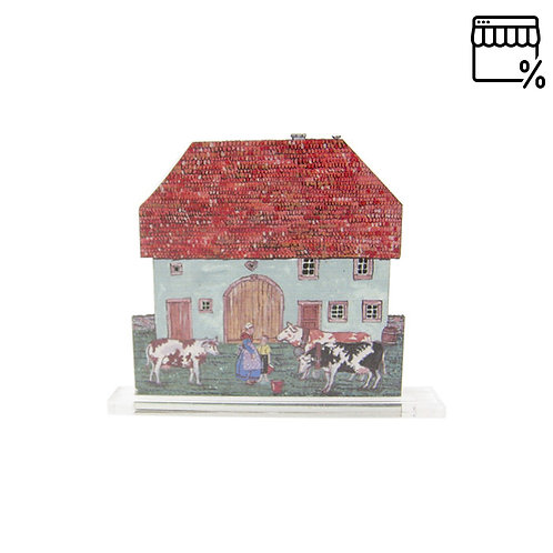 Petite silhouette à poser Maison des chaumes