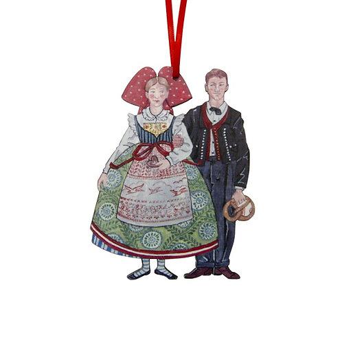 Couple Alsacien à suspendre