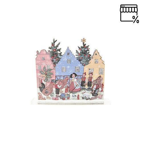 Petite silhouette à poser Noël villageois