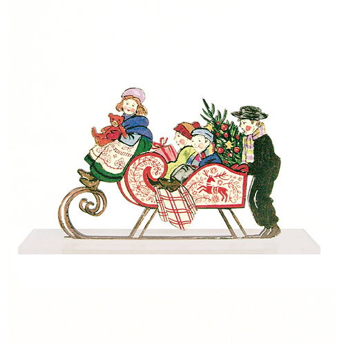 Scènette Traineau de Noël à poser