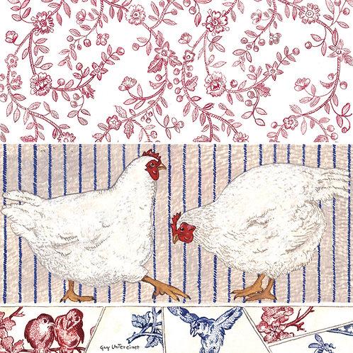 Carte Poules et oiseaux