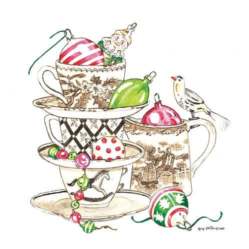 Carte Thé de Noël