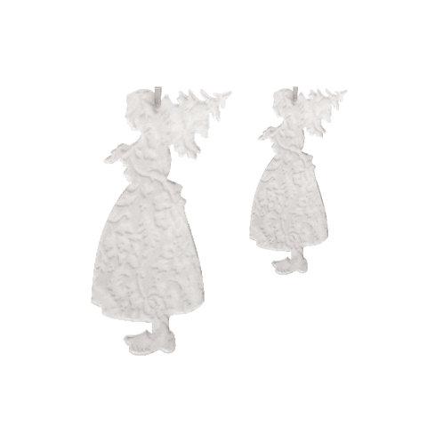 Alsacienne sapin en plexi gravé, à suspendre - 2 tailles