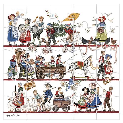 Puzzle Une année en Alsace
