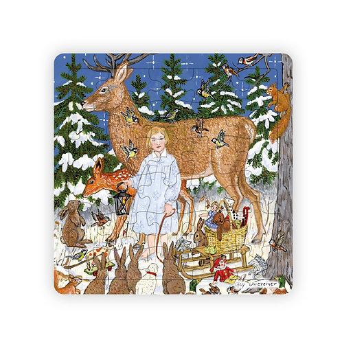 Puzzle Soir de Noël en Forêt