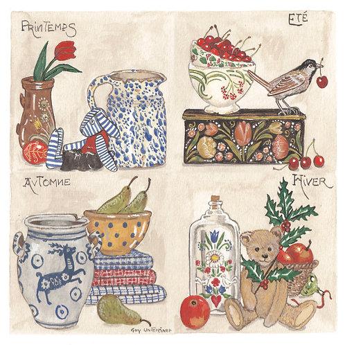 Carte Quatre saisons en Alsace