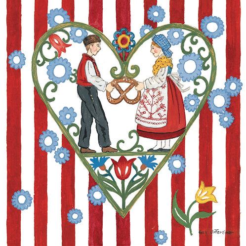 Carte Couple coeur