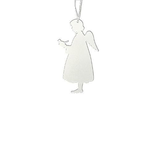 Silhouette métal Ange oiseau à suspendre - 2 tailles et 2 coloris